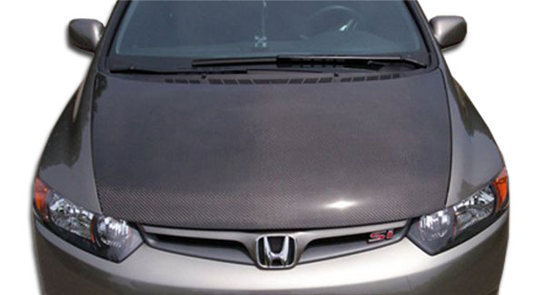 Carbon Creations 104107 | Honda Civic 4DR Carbon Creations OEM Hood 1-Piece; 2006-2011