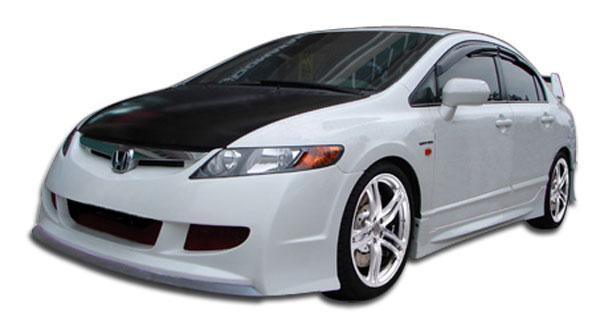 Duraflex 104539 | Honda Civic 4DR Duraflex R-Spec Body Kit 5-Piece; 2006-2011