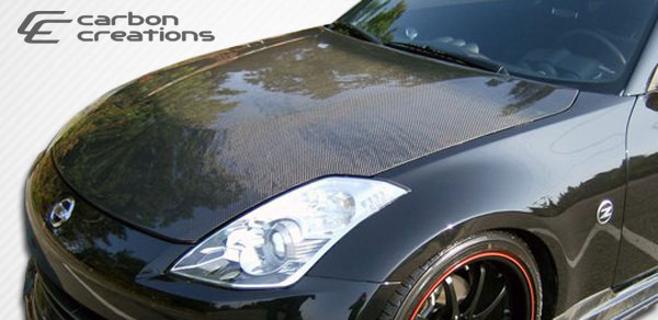 Carbon Creations 104775: 2007-2008 Nissan 350Z Carbon Creations OEM style Hood - 1 Piece