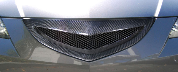 Carbon Creations 105030: 2004-2009 Mazda 3 4DR Carbon Creations Open Mouth Grille - 1 Piece
