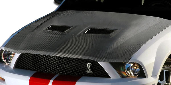 Carbon Creations 104999 | Ford Mustang Cobra Carbon Creations OEM Hood 1-Piece; 2005-2009