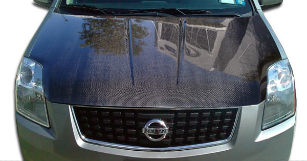 Carbon Creations 104751: 2007-2012 Nissan Sentra Carbon Creations OEM Hood - 1 Piece