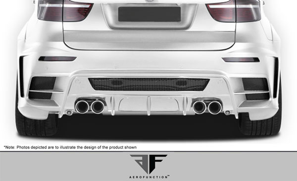 Aero Function 107934: 2008-2014 BMW X6 X6M AF-3 Wide Body Exhaust ( Metal ) - 1 Piece