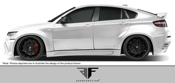 Aero Function 107929: 2008-2014 BMW X6 E71 E72 AF-3 Wide Body Side Skirts ( GFK ) - 2 Piece