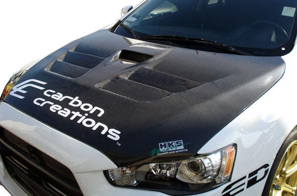 Carbon Creations 104643 | 2008-2015 Mitsubishi Lancer / Lancer Evolution 10 Lancer Carbon Creations GT Concept Hood - 1 Piece