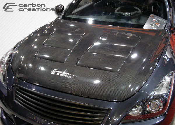 Carbon Creations 104662 | Infiniti G Coupe G37 Q60 Carbon Creations GT Concept Hood 1-Piece; 2008-2015
