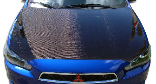 Carbon Creations 104757   2008-2015 Mitsubishi Lancer / Lancer Evolution 10 Carbon Creations OEM Hood - 1 Piece