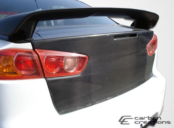 Carbon Creations 103878 | 2008-2015 Mitsubishi Lancer / Lancer Evolution 10 Carbon Creations OEM Trunk - 1 Piece