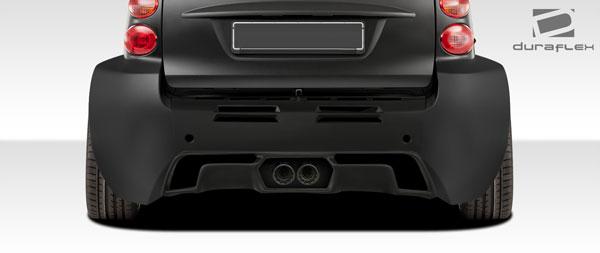 Duraflex 107842 | 2008-2016 Smart ForTwo Duraflex GT300 Wide Body Rear Diffuser - 1 Piece