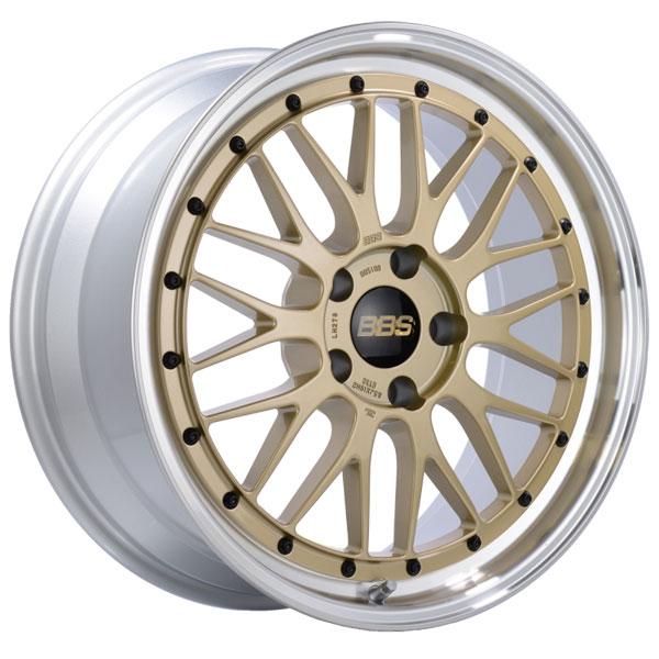BBS LM278GPK | LM 19x8.5 5x120 ET32 Gold Center Diamond Cut Lip Wheel -82mm PFS/Clip Required
