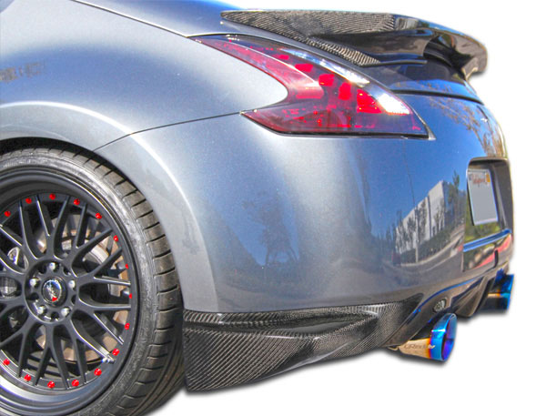 Carbon Creations 105908: 2009-2016 Nissan 370Z Carbon Creations N-1 Rear Add On Bumper Extensions - 2 Piece