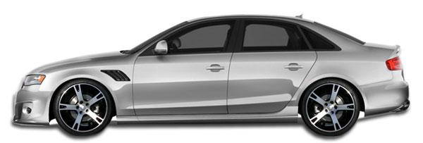 Duraflex 107161 | 2009-2016 Audi A4 S4 4DR Wagon Duraflex A-Tech Side Skirts Rocker Panels - 2 Piece