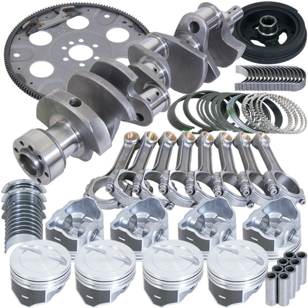 Eagle b13404l04053 | Chevrolet 350 Balanced Rotating Assembly Kit w/ 4.040 Bore +12.00cc Dome 153 Tooth Flexplate