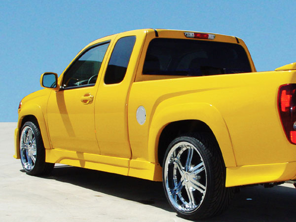 RKSport 10012003:  Colorado 2004-12 Extended Cab Left Side Skirt