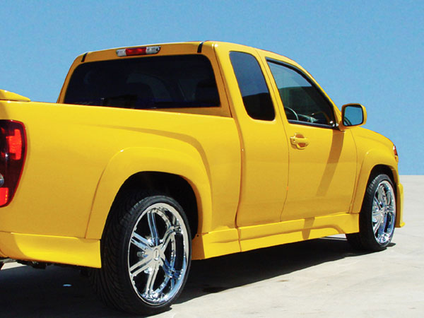 RKSport 10012004:  Colorado 2004-12 Extended Cab Right Side Skirt