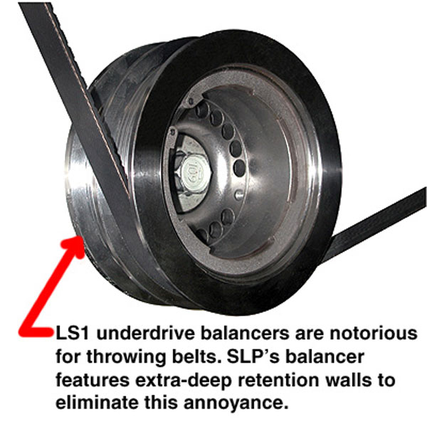 SLP Performance 100221: SLP Harmonic Balancer / Underdrive Pulley, 1998-02 LS1 Camaro w/Bolt V8