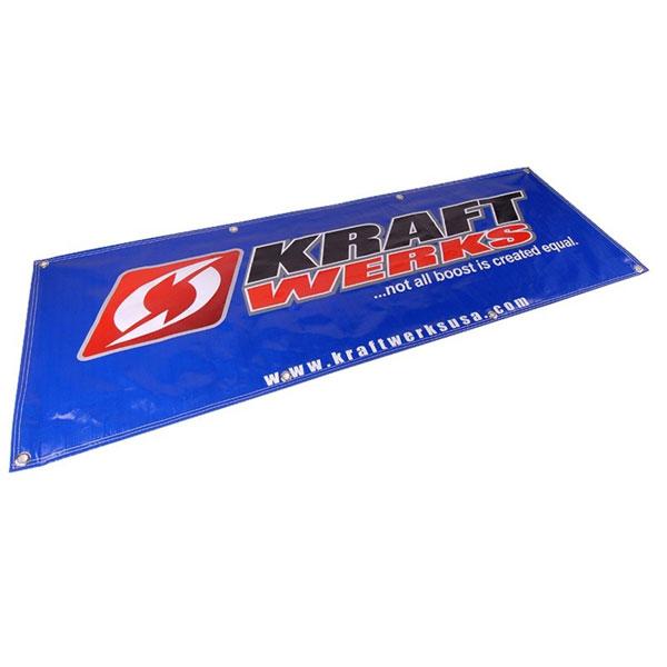 KraftWerks 836-99-9000 | 6 Ft Vinyl Shop Banner - Silver