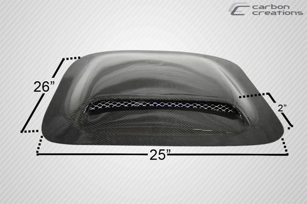 Carbon Creations 102895: Universal Carbon Creations Hood / Roof Scoop Type 2 - 1 Piece