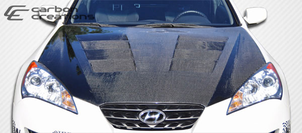 Carbon Creations 105838 | Hyundai Genesis 2DR Carbon Creations Circuit Hood 1-Piece; 2010-2012