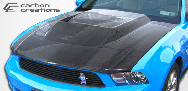 Carbon Creations 105862: 2010-2012 Ford Mustang Carbon Creations Circuit Hood - 1 Piece
