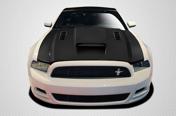 Carbon Creations 106262: 2013-2014 Ford Mustang / 2010-2014 Mustang GT500 Carbon Creations CV-X Hood - 1 Piece