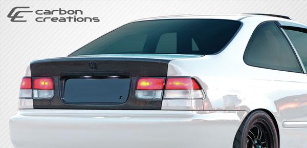 Carbon Creations 106381 | 1996-2000 Honda Civic 2DR Carbon Creations OEM Trunk - 1 Piece