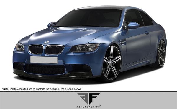 Aero Function 106808 |  BMW M3 E90 E92 E93 Carbon AF-1 Front Add-On Spoiler ( CFP ) 1-Piece; 2007-2013