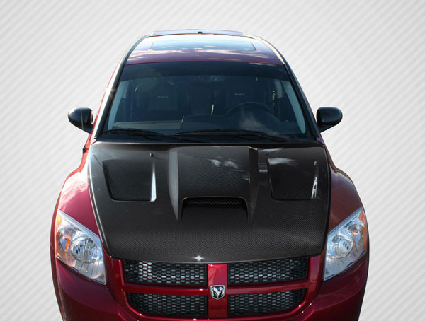 Carbon Creations 106851 | Dodge Caliber Carbon Creations SRT Look Hood 1-Piece; 2007-2012