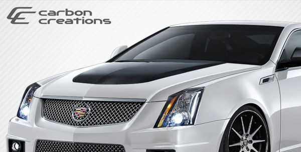 Carbon Creations 106864: 2008-2013 Cadillac CTS  CTS-V Look Hood - 1 Piece