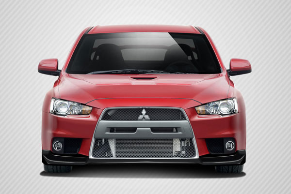 Carbon Creations 106876: 2008-2015 Mitsubishi Lancer Evolution 10  VR-S Front Lip Under Spoiler Air Dam - 1 Piece