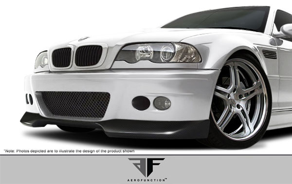 Aero Function 107365:  2001-2006 BMW M3 E46 2DR Carbon AF-1 Front Add-On Spoiler ( CFP ) - 1 Piece