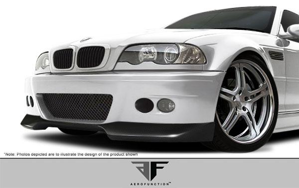Aero Function 107365 |  BMW M3 E46 2DR Carbon AF-1 Front Add-On Spoiler ( CFP ) 1-Piece; 2001-2006