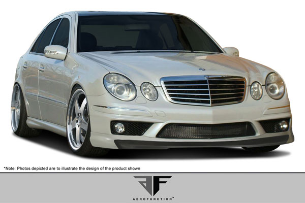 Aero Function 107391 |  2003-2006 Mercedes E55 E Class W211 AF-1 Front Add-On Spoiler ( GFK ) - 1 Piece (will only fit vehicles equipped with AMG sport bumpers only)