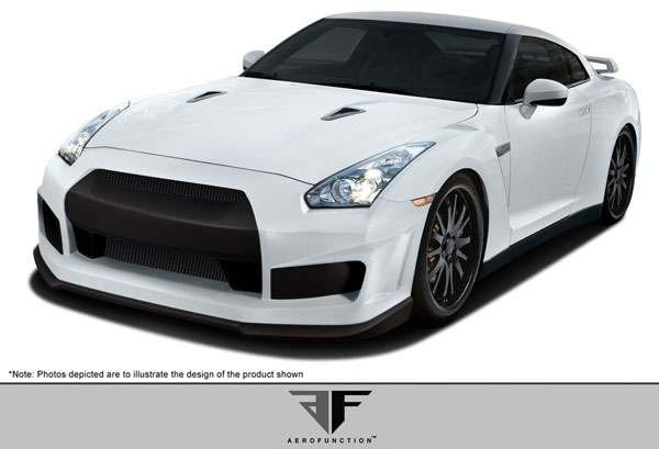 Aero Function 107394: 2009-2015 Nissan GT-R R35 AF-1 Front Bumper Cover ( GFK ) - 1 Piece