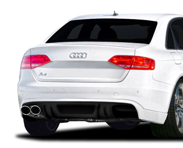 Extreme Dimensions 107421: 2009-2012 Audi A4 4DR R-1 Rear Diffuser - 1 Piece