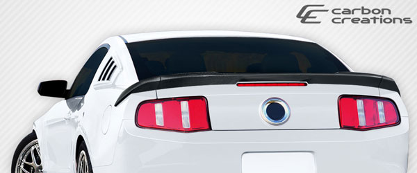 Carbon Creations 107610: 2010-2014 Ford Mustang  R-Spec Rear Wing Trunk Lid Spoiler - 3 Piece