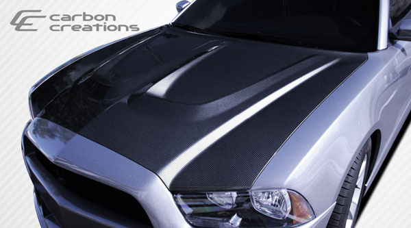 Carbon Creations 107658: 2011-2014 Dodge Charger  Circuit Hood - 1 Piece