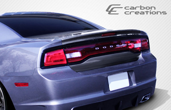 Carbon Creations 107663: 2011-2014 Dodge Charger Carbon Creations OEM Trunk - 1 Piece