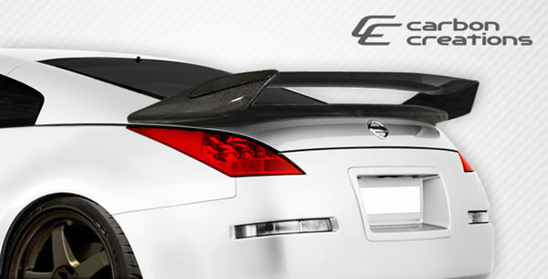 Carbon Creations 107697: 2003-2008 Nissan 350Z 2DR Coupe Carbon Creations N-2 Wing Trunk Lid Spoiler - 1 Piece