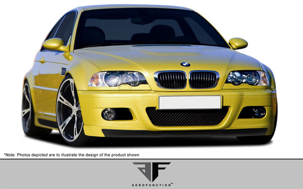 Aero Function 107887: 2001-2006 BMW M3 E46 2DR AF-2 Front Add-On Spoiler ( GFK ) - 1 Piece