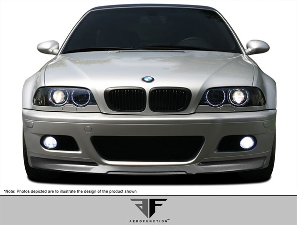 Aero Function (107888)  2001-2006 BMW M3 E46 2DR Carbon AF-2 Front Add-On Spoiler ( CFP ) - 1 Piece