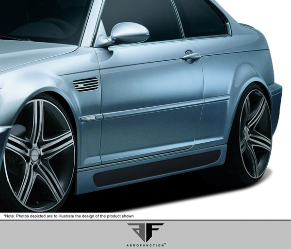 Aero Function 107889:  2001-2006 BMW M3 E46 Convertible 2DR AF-2 Side Skirts ( GFK ) - 2 Piece