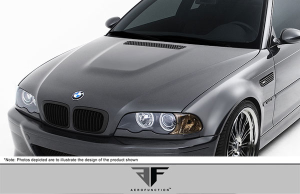 Aero Function 107892: 2001-2006 BMW M3 E46 Convertible 2DR AF-1 Hood ( GFK ) - 1 Piece