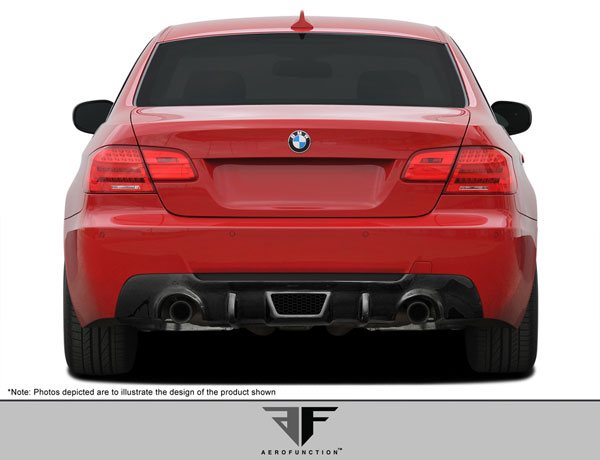 Aero Function 107895: 2007-2013 BMW 3 Series M-Tech E92 E93 2DR Carbon AF-3 Rear Diffuser ( CFP ) - 1 Piece