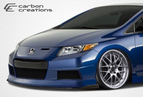 Carbon Creations 108101: Universal Carbon Creations GT Concept Front Under Spoiler Air Dam Lip Splitters - 2 Piece