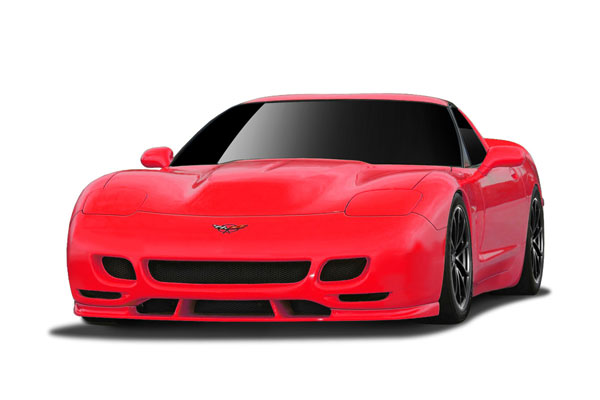 Couture (108130) 1997-2004 Chevrolet Corvette C5 Couture TS Edition Front Bumper - 2 Piece