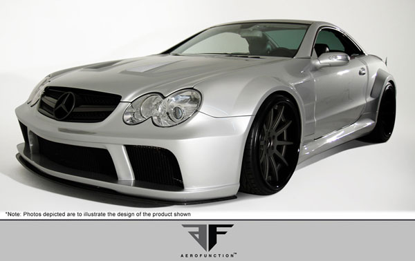 Aero Function 108146: 2003-2008 Mercedes SL Class R230 AF-Signature Series 1 Wide Body Conversion Kit ( CFP GFK ) - 12 Piece