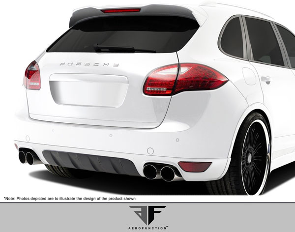 Aero Function 108152:  2011-2014 Porsche Cayenne AF-2 Rear Add-On Spoiler ( GFK ) - 3 Piece