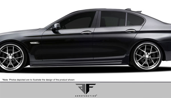 Aero Function 108170: 2011-2016 BMW 5 Series F10 4DR AF-2 Side Skirts ( GFK ) - 2 Piece