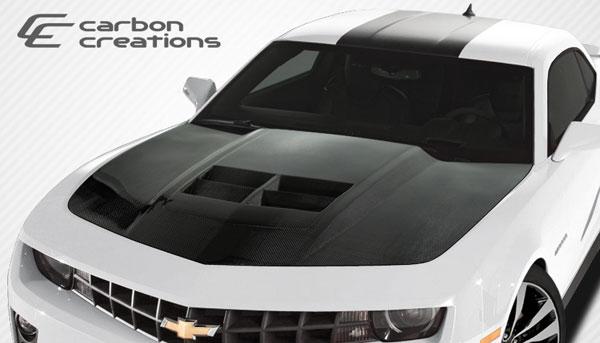 Carbon Creations 108186 | Chevrolet Camaro Carbon Creations ZL1 Look Hood 1-Piece; 2010-2015